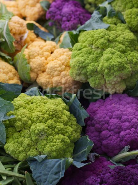 Pourpre vert orange chou-fleur Photo stock © bobkeenan
