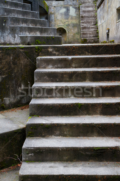 Concrete Bunker Steps vertical Stock photo © bobkeenan