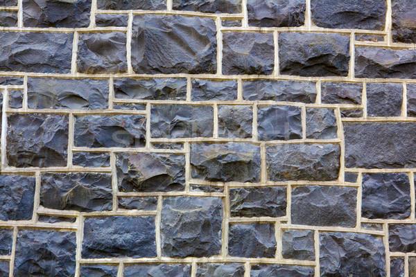 Rectangular Stone Wall further away Stock photo © bobkeenan