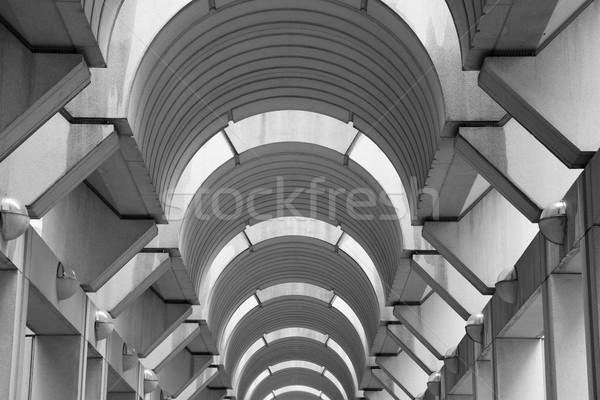 Modern Arched hallway Ceiling Horizontal Stock photo © bobkeenan
