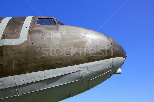 Old Airplane Nose Stock photo © bobkeenan