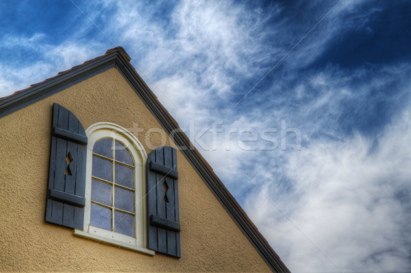 Shutter window blue sky HDR Stock photo © bobkeenan