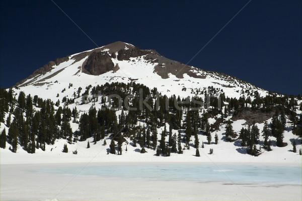 湖 花崗岩 雪 深い 青空 ストックフォト © bobkeenan