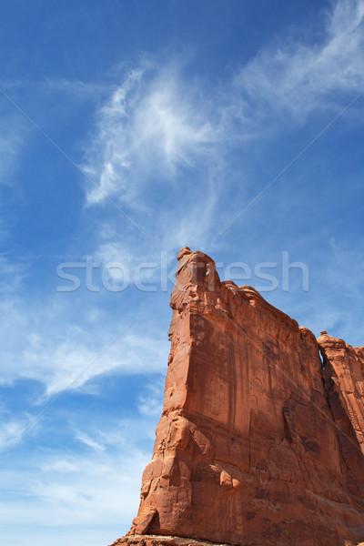 Ciel bleu vertical parc dramatique Photo stock © bobkeenan