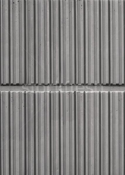 Muur beton repetitieve lijn ontwerp textuur Stockfoto © bobkeenan