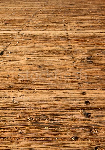 Old wood boardwalk vertical Stock photo © bobkeenan
