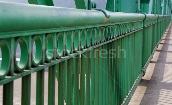 Only Railing in perspective on St. Johns Bridge Stock photo © bobkeenan