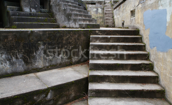 Concrete Bunker Steps right Stock photo © bobkeenan