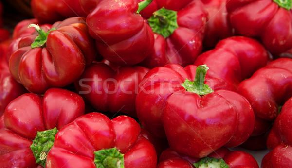 Pompoen Rood paprika boeren Stockfoto © bobkeenan
