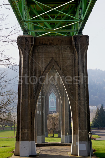 Beneath St. Johns Bridge Stock photo © bobkeenan