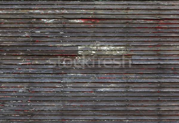 Elnyűtt fa fal korábbi festék textúra Stock fotó © bobkeenan