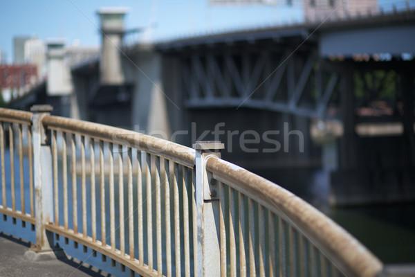 Curved steel railing Stock photo © bobkeenan