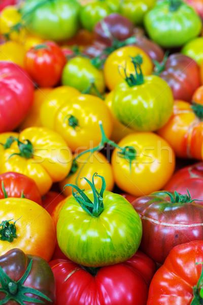 Herança tomates verde amarelo vermelho Foto stock © bobkeenan