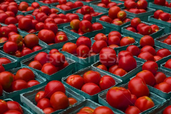 トマト 明るい 赤 表示 農民 市場 ストックフォト © bobkeenan