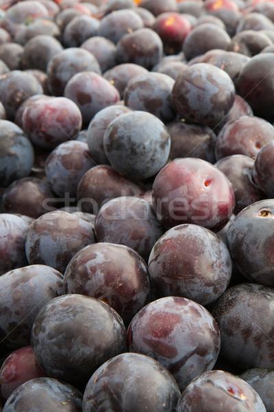 Paars pruimen Rood textuur gezondheid Stockfoto © bobkeenan