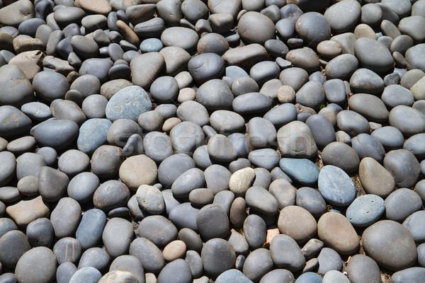 Rivier rotsen groot bed grijs donkere Stockfoto © bobkeenan