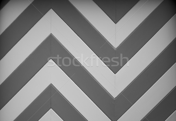 BW Chevron Garage door design Stock photo © bobkeenan
