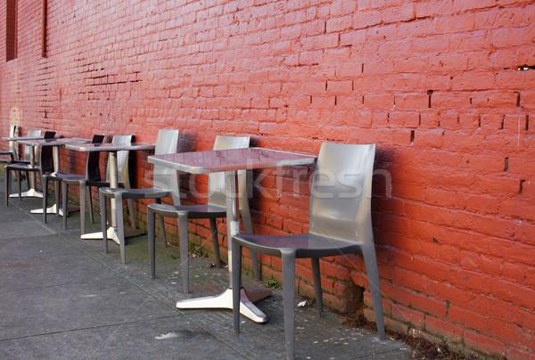 Sidewalk Seating Stock photo © bobkeenan