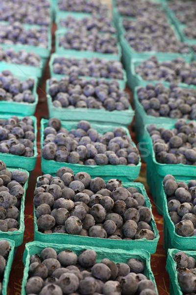 ボックス ブルーベリー 緑 農民 市場 自然 ストックフォト © bobkeenan