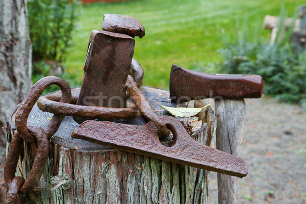 Abstract old hatchets Stock photo © bobkeenan