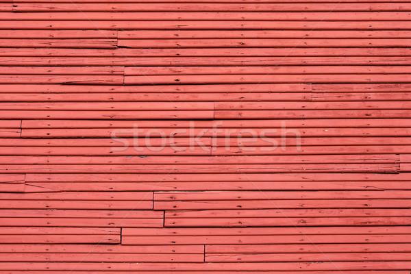 Old Red wood Wall Stock photo © bobkeenan