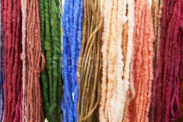 Ruw gekleurd garen muur veel kleuren Stockfoto © bobkeenan