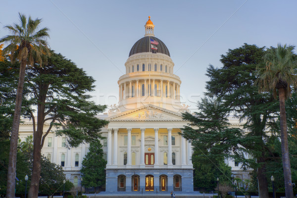 Sunligth tipped Capitol Building Stock photo © bobkeenan