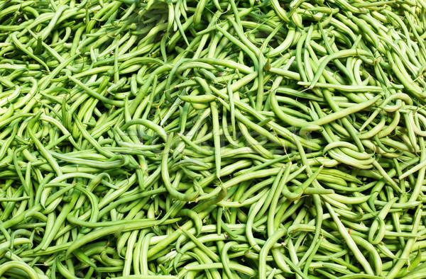 Сток-фото: зеленый · строку · бобов · большой · Фермеры