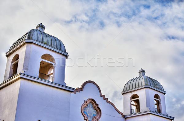 Hdr missão igreja imagem estilo estuque Foto stock © bobkeenan