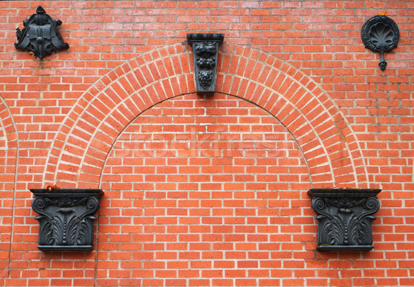 Brick arch ornaments Stock photo © bobkeenan