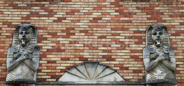 Deux bâtiment entrée mur de briques texture Photo stock © bobkeenan