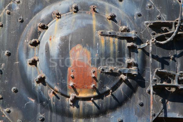 ストックフォト: 鉄道 · エンジン · フロント · キャップ