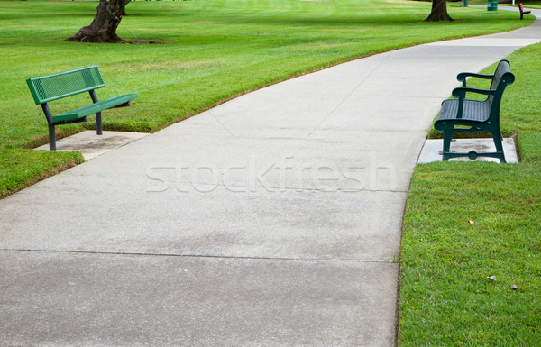 Due verde metal concrete Foto d'archivio © bobkeenan