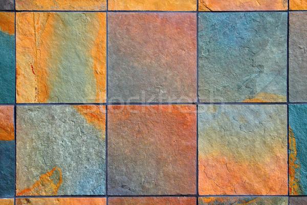 Slate wall background Stock photo © bobkeenan