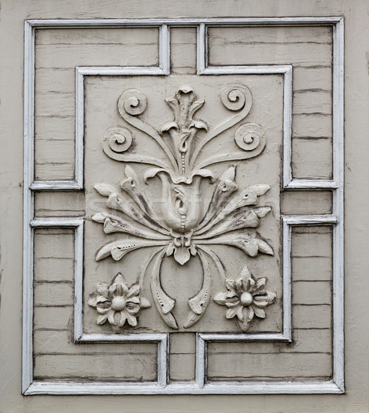 Old victorian flower facade Stock photo © bobkeenan