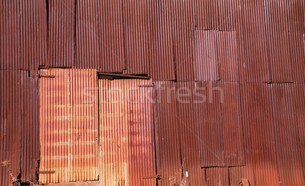 Rusted Metal Wall Stock photo © bobkeenan