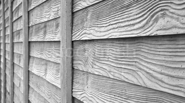 Bois clôture gris maison construction mur Photo stock © bobkeenan