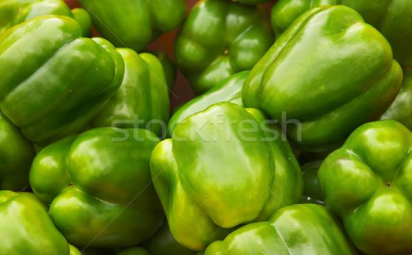 緑 ピーマン 鐘 ピーマン 農民 ストックフォト © bobkeenan