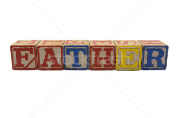 木材 ブロック 父 ヴィンテージ 木製 ストックフォト © bobkeenan