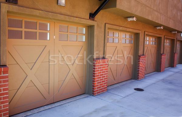 5 Brown Garages Stock photo © bobkeenan