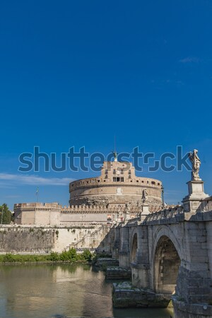 Sant Angelo Bridge in Rome Stock photo © boggy