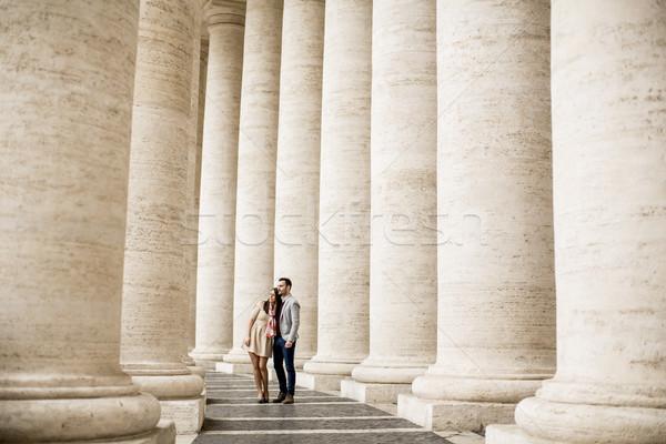 Szerető pár tér Vatikán nő férfi Stock fotó © boggy