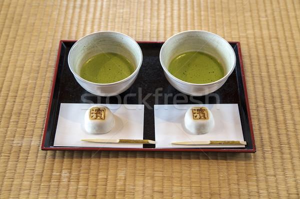 зеленый чай таблице стекла зеленый чай Сток-фото © boggy