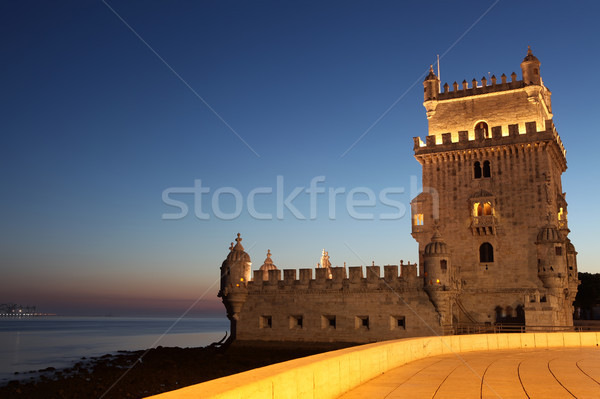 Stockfoto: Lissabon · Portugal · water · gebouw · licht · oceaan