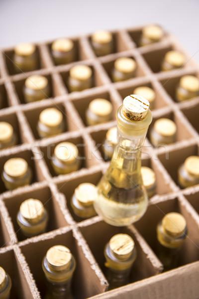 Collectie flessen brandewijn water Stockfoto © boggy