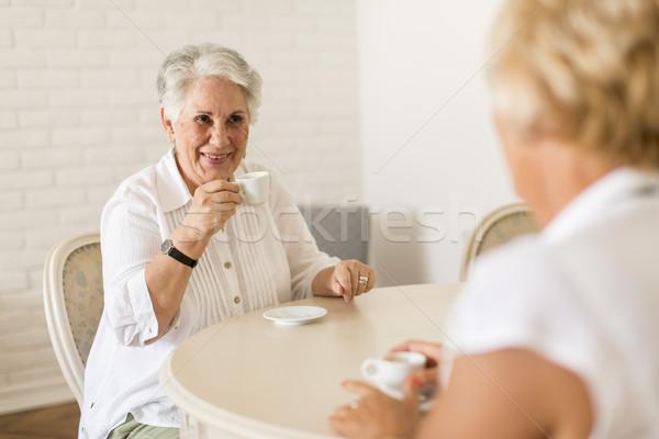 2 女性 飲料 コーヒー ホーム ストックフォト © boggy