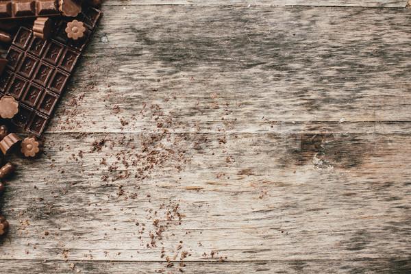 Сток-фото: шоколадом · текстуры · продовольствие · фон · пространстве