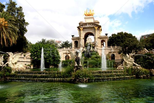 Fountain in Parc De la Ciutadella in Barcelona, Spain Stock photo © boggy
