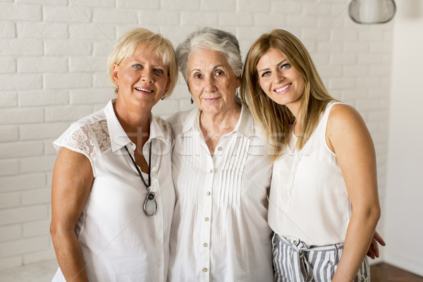 Portrait of a smiling woman , grandmother and granddaughter Stock photo © boggy