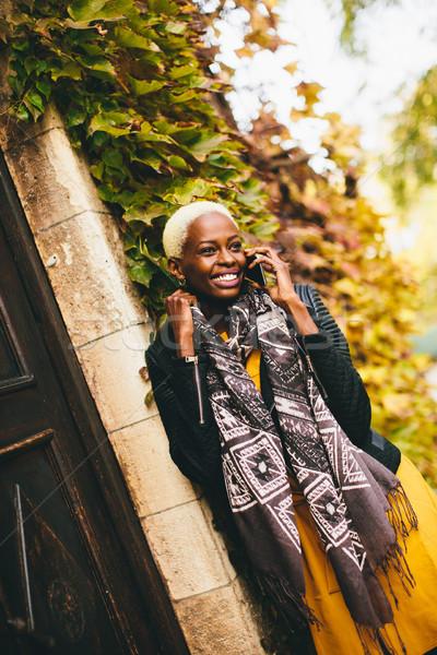 Stock photo: Modern african american woman